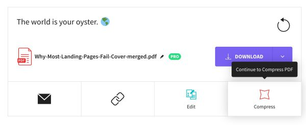 SmallPDF Compress Feature Sample